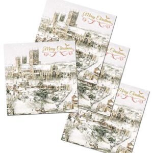 Lincoln Christmas Cards Pack of 4 Wintertime : Lincoln Cathedral