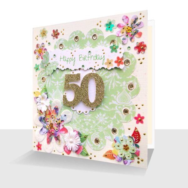 Luxury 50th Birthday Card