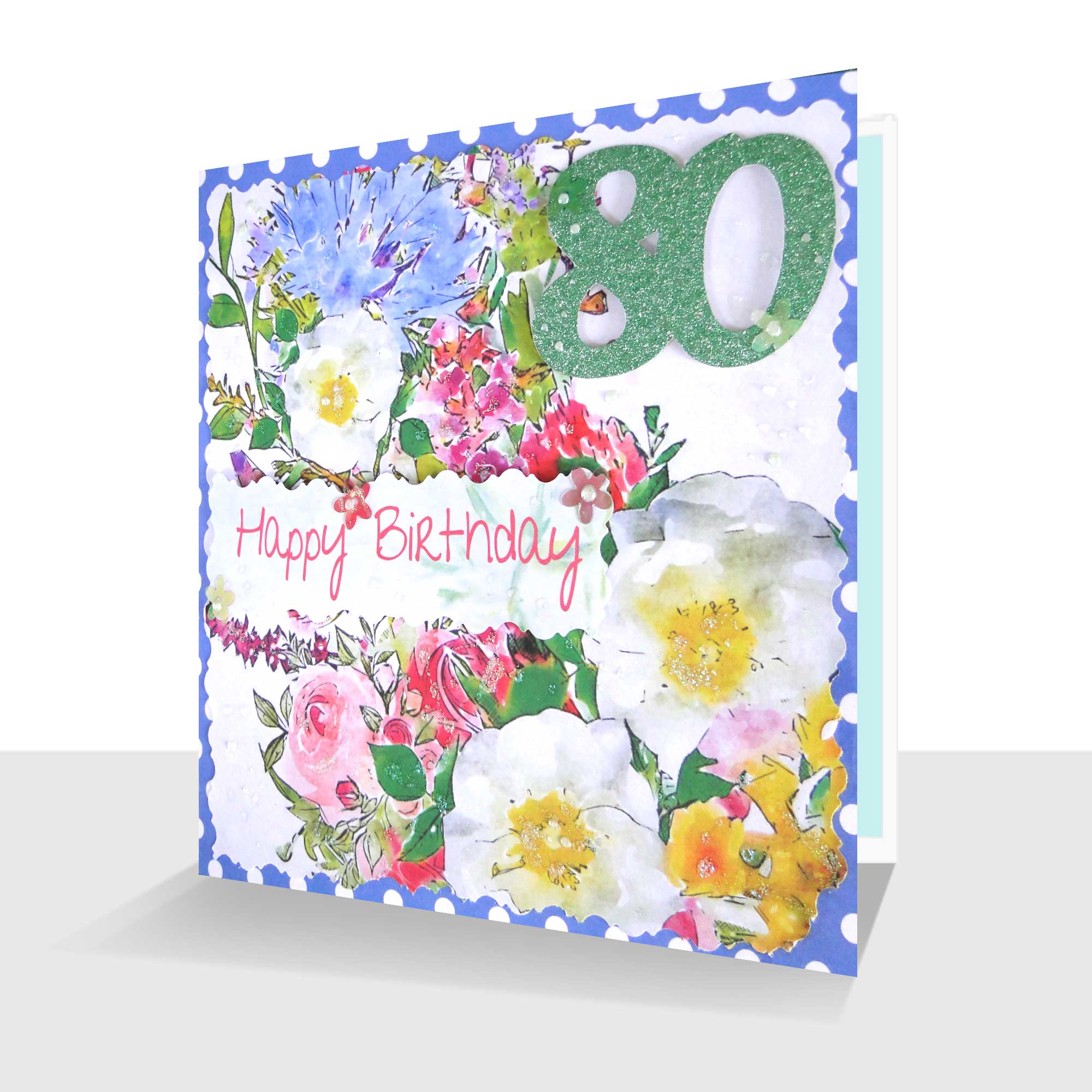 80tth Birthday Card