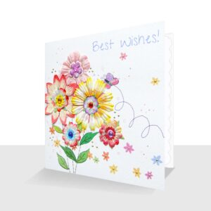 Best Wishes Highly Embellished Greeting Card