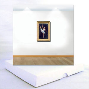 Miniature Ballet Dancer Painting Card