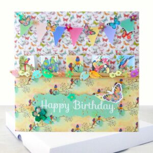 Tropical Birds and Butterflies Extra Special Boxed Birthday Card