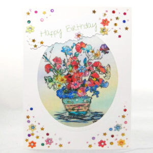 Mixed Media Embroidered Painted & Textile Cards