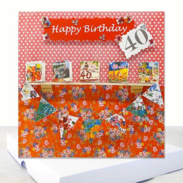 Luxury 40th Birthday Boxed Card