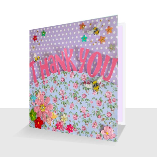 Unique Thank You Card : Luxury 3d Design with Bees