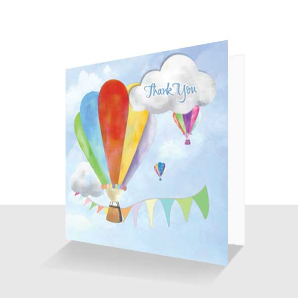 Colourful Thank You Card