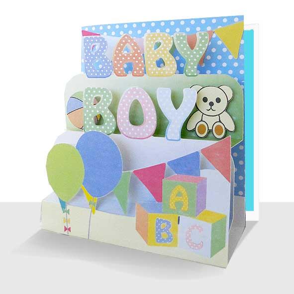 New Baby Boy Card