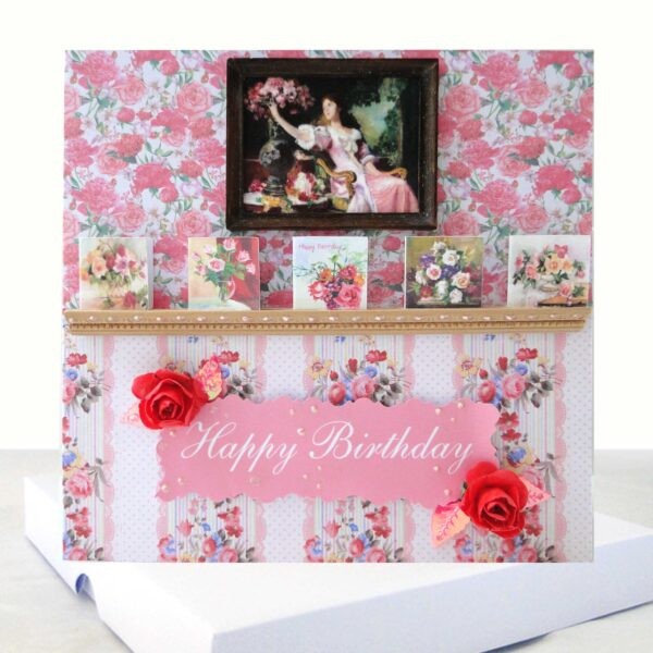 Old English Roses Luxury Boxed Birthday Card