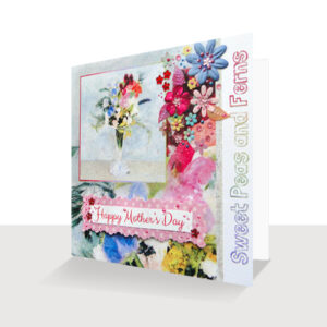 Mother's Day Card Embellished Sweet Peas Mothers Card