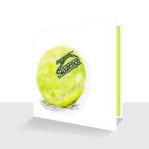 Tennis All Occasion Card : Tennis Lovers Card : Tennis Ball