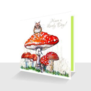 Toadstools Card : Have a Lovely Day