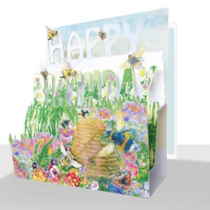 3d Happy Birthday Card Bees