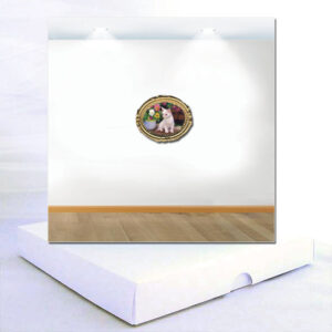 Modern Art Boxed Card White Kitten