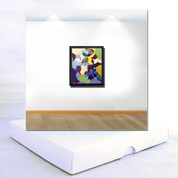 Abstract Flowers Original Miniature Painting Boxed Card
