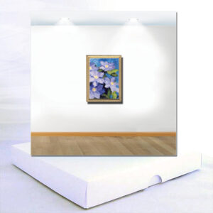 Blue Clematis Original Miniature Painting