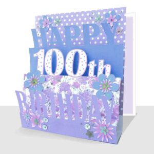 100th Birthday Card 3D