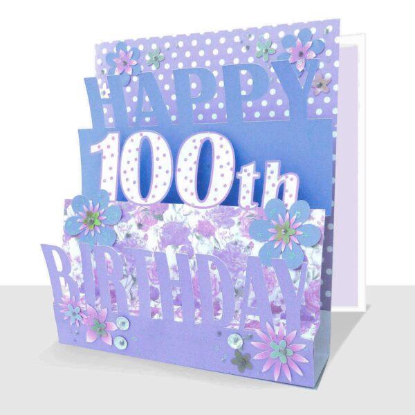 100th Birthday Card 3D