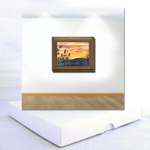 Sunset Miniature Textile Boxed Card
