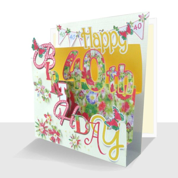 Pop up 40th Birthday Card