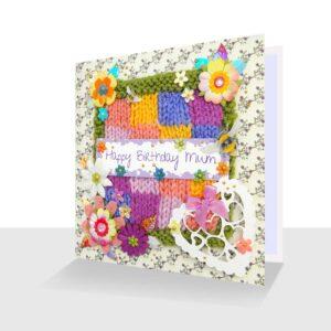 Happy Birthday Mum Card Pretty Mixed Media