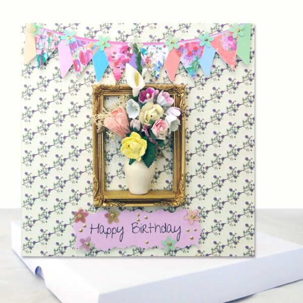 Floral Boxed Birthday Card %%sep%% Luxury Boxed Card Unique Design