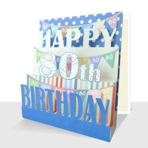 Pop Up 80th Birthday Card
