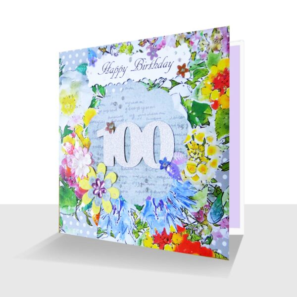 Handmade 100th Birthday Card