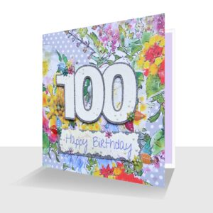 100th-Happy Birthday-card