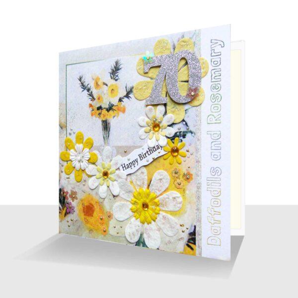Handmade 70th Birthday Card