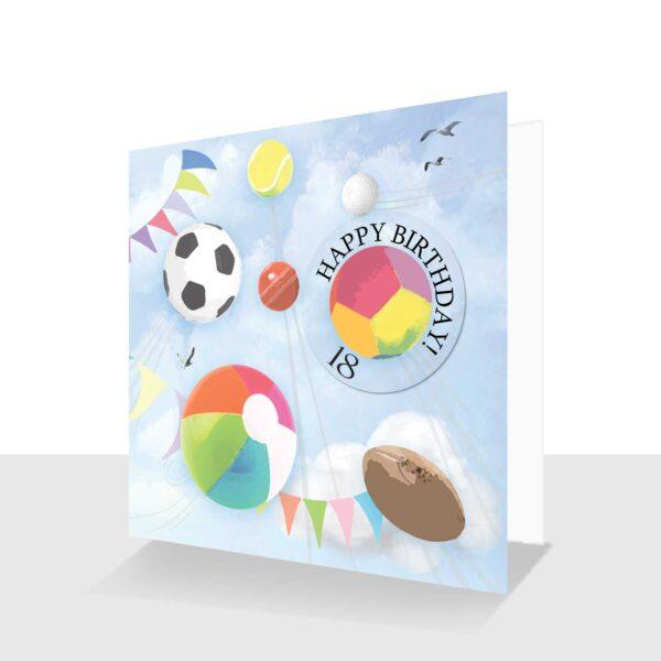 18th Birthday Card Sports