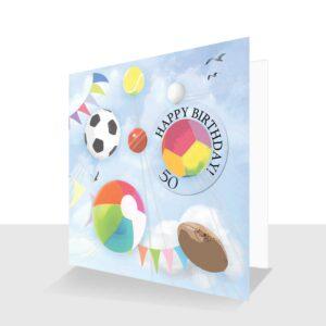 50th-Happy Birthday-card