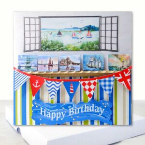 Sea View  and Sailing Extra Special Boxed Birthday Card