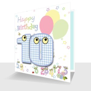 Childs Card 10th Birthday Card -The Number People