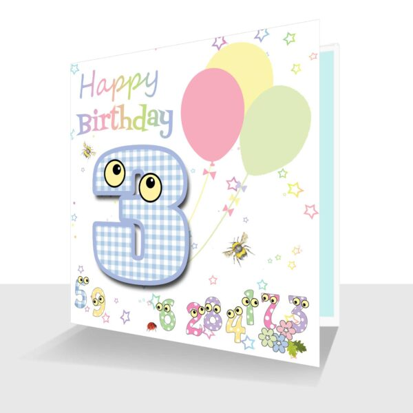 Number People 3rd Birthday Card