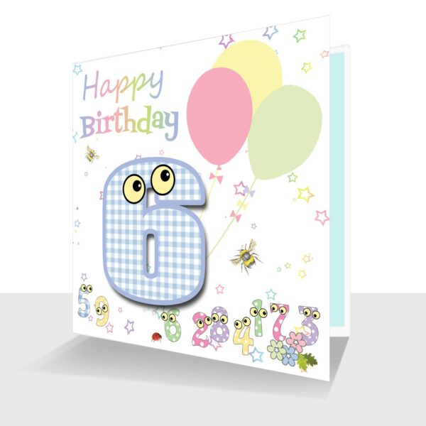 Childs Card 6th Birthday Card -The Number People