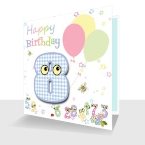 Childs Card 8th Birthday Card -The Number People