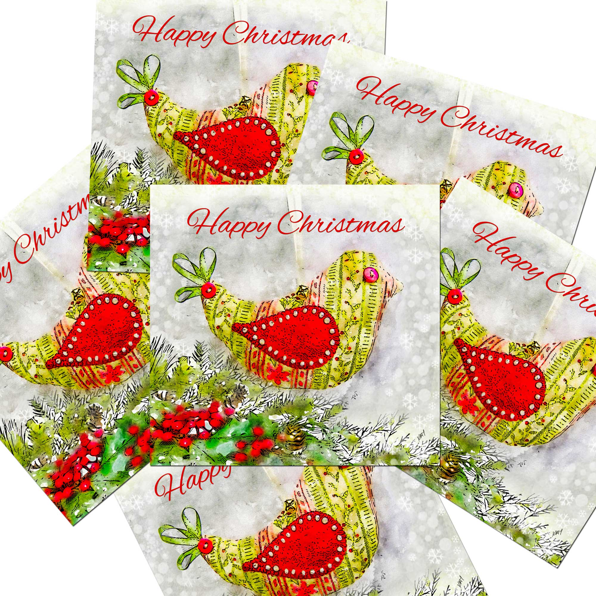 6 pack Christmas Cards