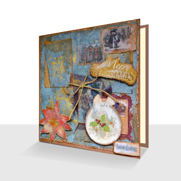 Shabby Chic Christmas Card : Sumptuously Handcrafted