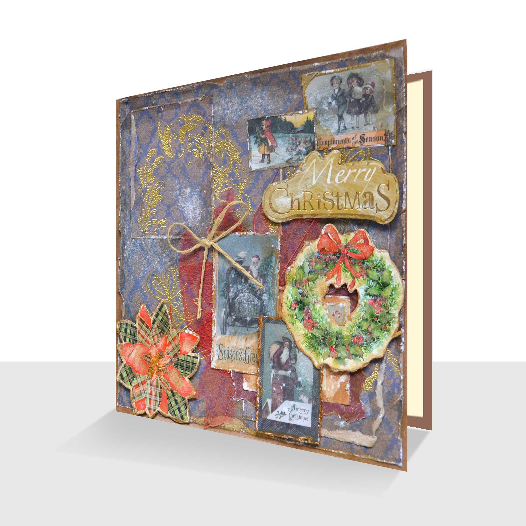 Sumptuous Handmade Christmas Card