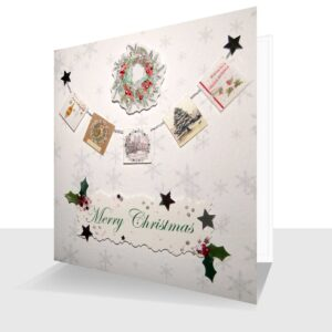 Luxury Handmade Christmas Card Miniature Card String