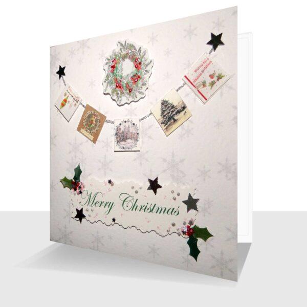 Luxury Handmade Christmas Card Miniature Card String