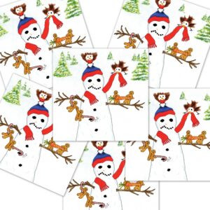 Humorous Snowman Christmas Card : 6 Pack