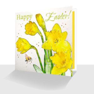 Happy Easter Card Daffodils-