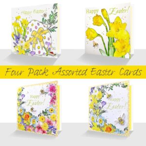 Four assorted luxury Easter cards