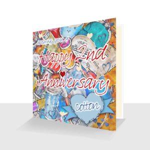 2nd Wedding Anniversary Card: Cotton Wedding Anniversary