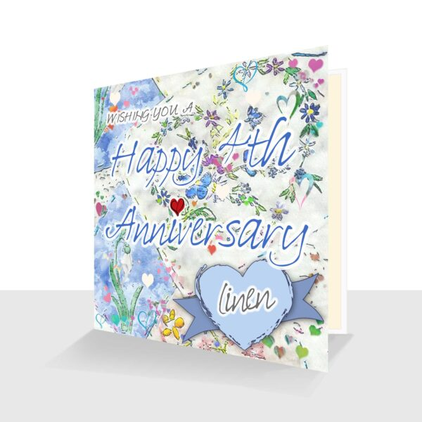 4th Wedding Anniversary Card: Linen Wedding Anniversary