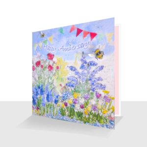 Happy Anniversary Card Garden Flowers
