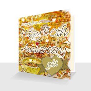 50th Wedding Anniversary Card : Golden Wedding Anniversary