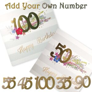 Happy Birthday Number Card - Choose your Number - Made to order