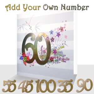Special Day Number Card - Choose your Number - Made to order